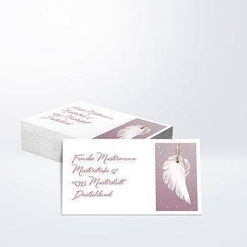 Empfängeraufkleber Taufe - Zarte Flügel Baby