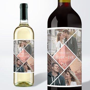 Weinetiketten Hochzeit - Facetten