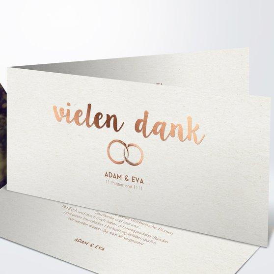 Danksagungskarte Hochzeit - Edles Ja