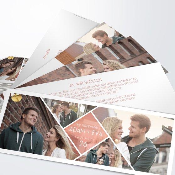 Facetten - Kartenfächer 210x80 - Terrakotta