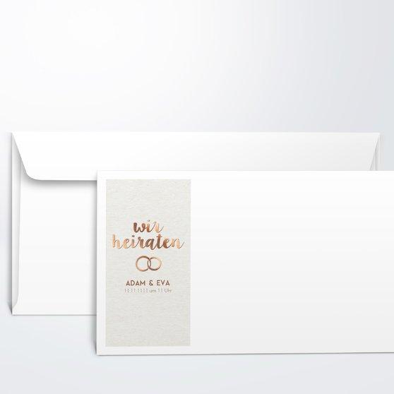 Umschlag mit Design Hochzeit - Edles Ja