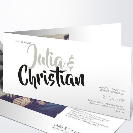 Ultraleicht - Horizontale Klappkarte 210x100 - Weiß