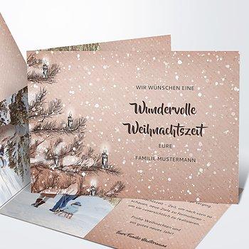 Weihnachtskarten - Es schneit