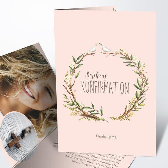 Danksagungen zur Konfirmation - Konfirmationkranz