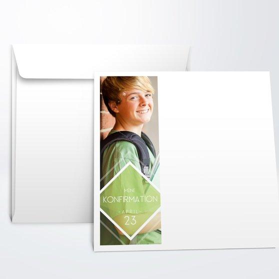 Umschlag mit Design Konfirmation - Bunt gefächert