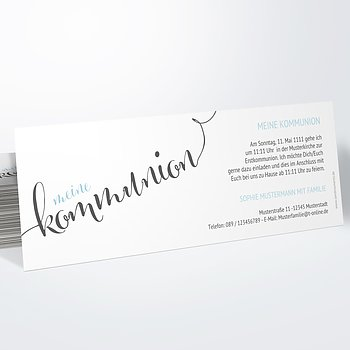 Kommunionskarten - Fabelhafter Tag Kommunion