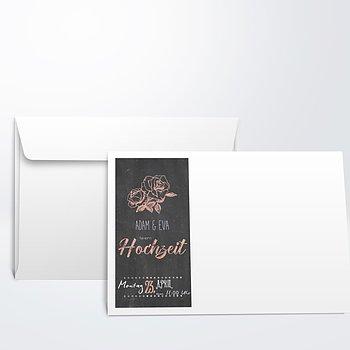 Umschlag mit Design Hochzeit - Ankündigung