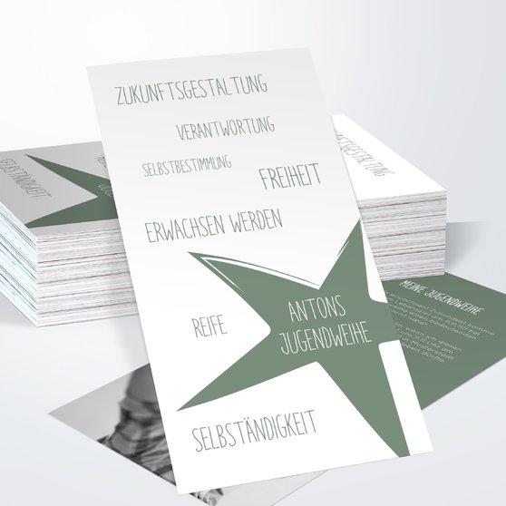 Jugendweihe Karten - Ausschwärmen