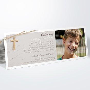 Kommunionskarten - Holzkreuz