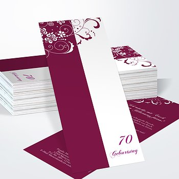 Geburtstagseinladungen - Blütenkarte