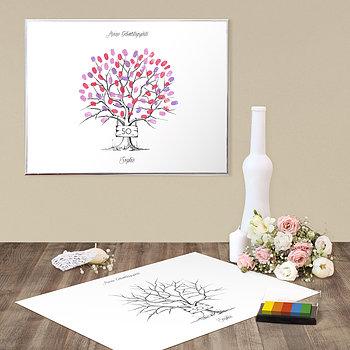 fingerabdruckposter tafelbaum geburtstag detail. Black Bedroom Furniture Sets. Home Design Ideas
