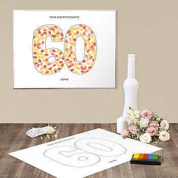 Fingerabdruckposter - Geburtstagsprint 60