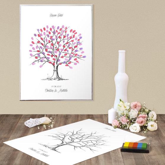 fingerabdruckposter fingerabdruck baum holz detail. Black Bedroom Furniture Sets. Home Design Ideas