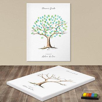 Fingerabdruckposter - Mein Baum Hochzeit