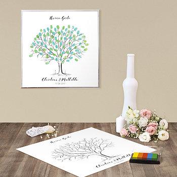 Fingerabdruckposter - Wedding Tree Love