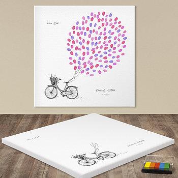 Fingerabdruckposter - Bicycle