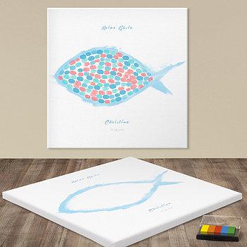Fingerabdruckposter - Finger Fisch
