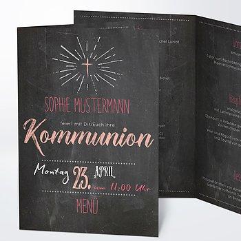 Menükarten Kommunion - Ankündigung