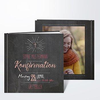 Gästebuch Konfirmation - Ankündigung