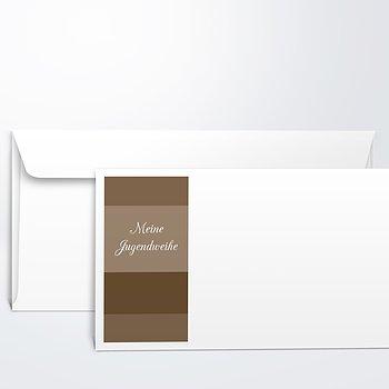 Umschlag mit Design Jugendweihe - Bilderreihe