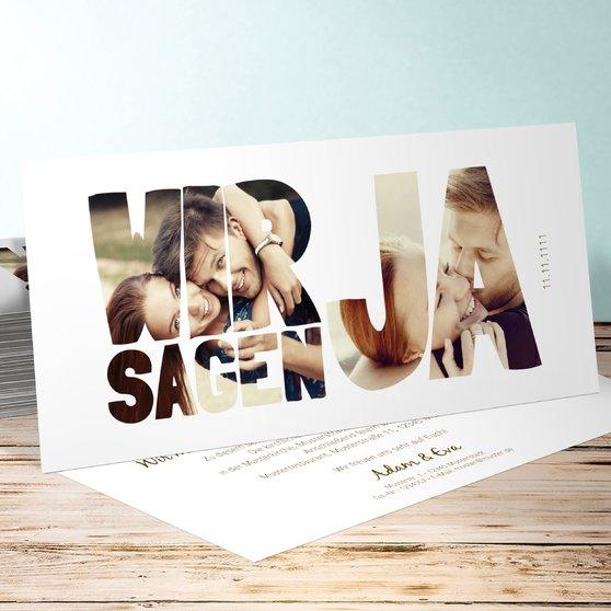 Liebe durch und durch - Horizontal 210x100 zweiseitig - Weiß