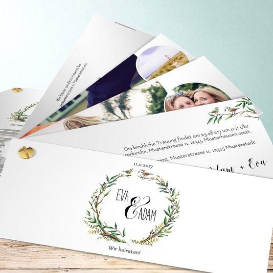 Liebesnest - Kartenfächer 210x80 - Weiß