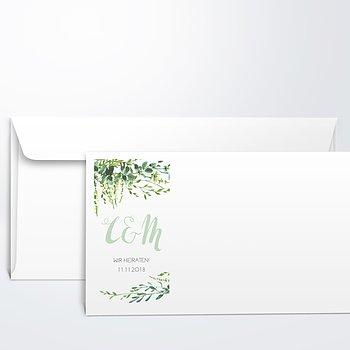 Umschlag mit Design Hochzeit - Grüne Pracht