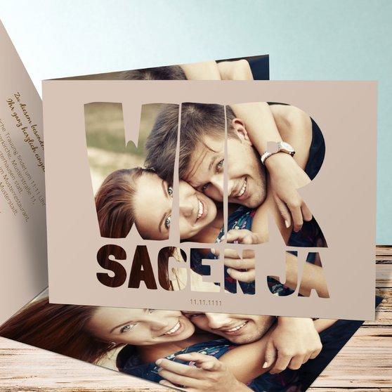 Liebe durch und durch - Horizontale Klappkarte 148x105 - Dunkel Bisquite