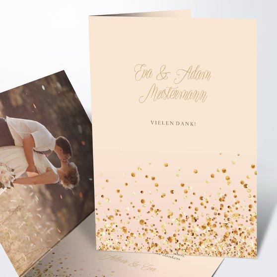 Danksagungskarte Hochzeit - Geflitter