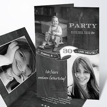 Geburtstagseinladungen   Jahrestafel 30
