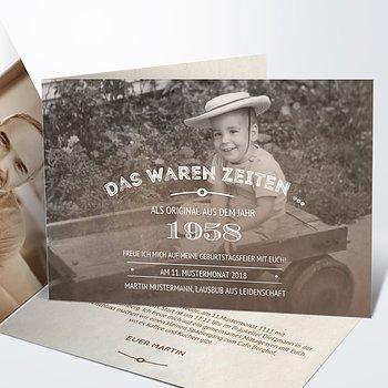 Geburtstagseinladungen - Alte Zeiten 60