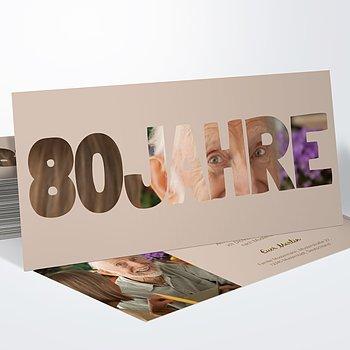 Geburtstagseinladungen - Stolze 80