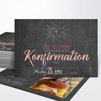 Konfirmationskarten - Ankündigung