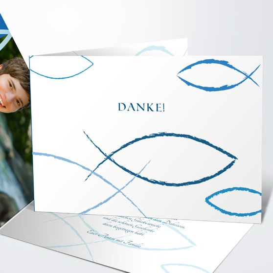 Bedeutung - Horizontale Klappkarte 148x105 - Dunkelblau
