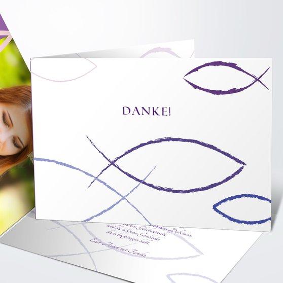 Bedeutung - Horizontale Klappkarte 148x105 - Veilchen
