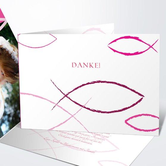 Bedeutung - Horizontale Klappkarte 148x105 - Hot Pink