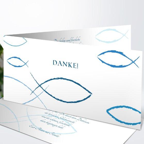 Bedeutung - Horizontale Klappkarte 210x100 - Dunkelblau