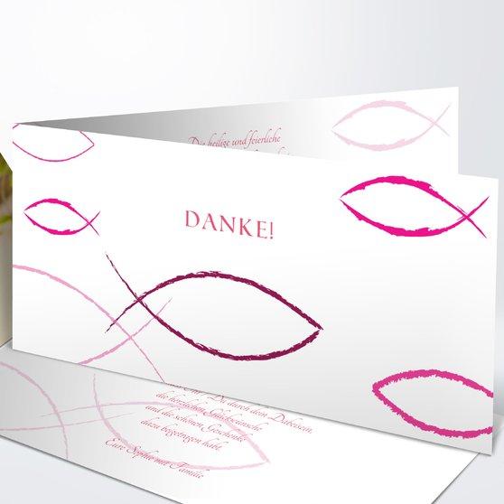 Bedeutung - Horizontale Klappkarte 210x100 - Hot Pink