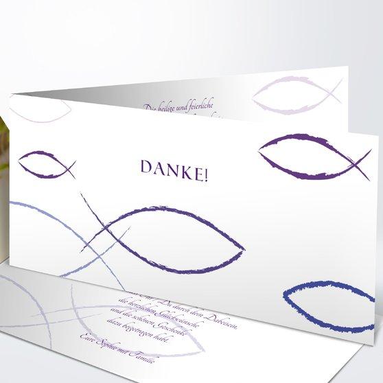 Bedeutung - Horizontale Klappkarte 210x100 - Veilchen