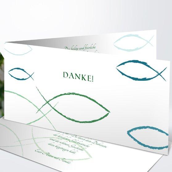 Bedeutung - Horizontale Klappkarte 210x100 - Jade
