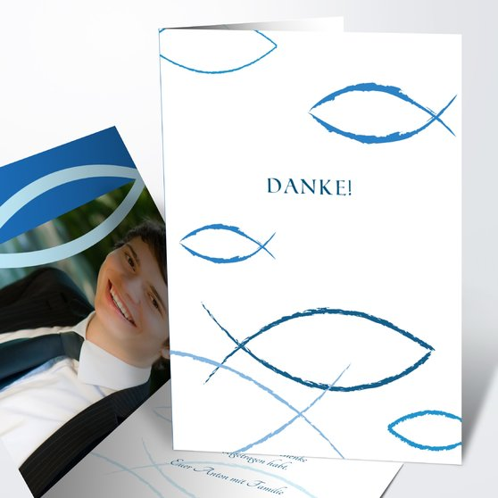 Bedeutung - Vertikale Klappkarte 105x148 - Dunkelblau