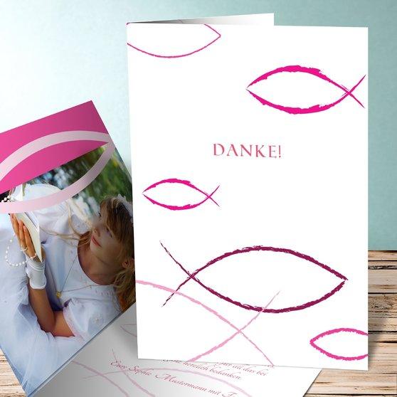 Bedeutung - Vertikale Klappkarte 105x148 - Hot Pink