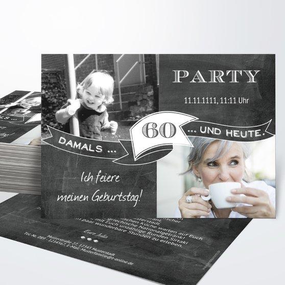 Geburtstagseinladungen - Jahrestafel 60