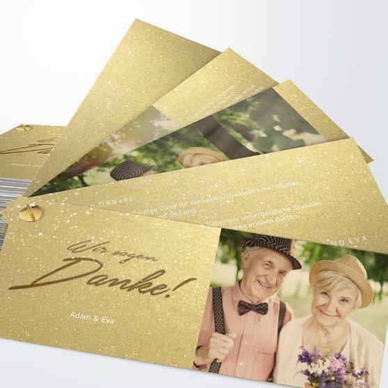 Goldweg - Kartenfächer 210x80 - Goldgelb
