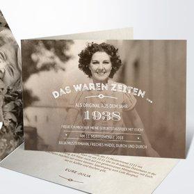 Geburtstagseinladungen   Alte Zeiten 80