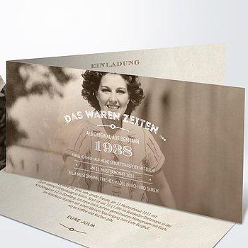 Geburtstagseinladungen - Alte Zeiten 80