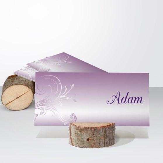 Frühlingsgefühle - Tischkarte einfach 100x048 - Zartes Violett