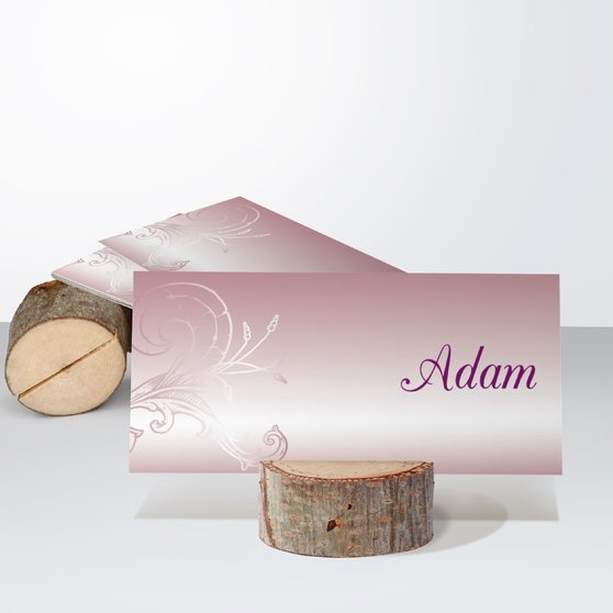 Frühlingsgefühle - Tischkarte einfach 100x048 - Altrosa