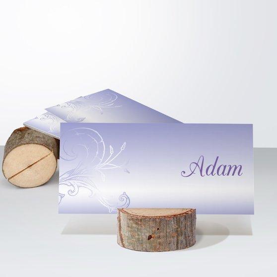 Frühlingsgefühle - Tischkarte einfach 100x048 - Zartes Lila