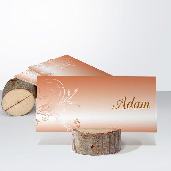 Frühlingsgefühle - Tischkarte einfach 100x048 - Helles Ocker
